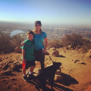Hiking up Cowles Mountain with the brother and the buddy